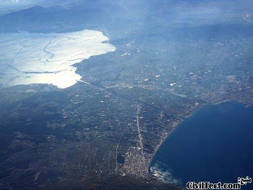 تصویر هوایی کانال کونت یونان