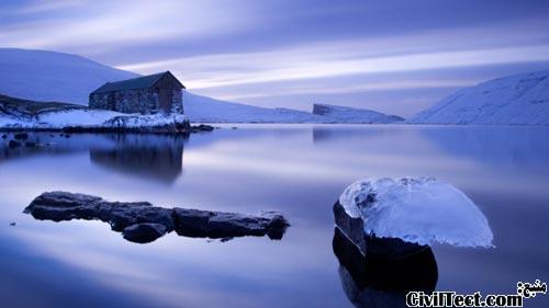 تصویری از دریاچه ی جزیره فارو در اواخر آبان ماه