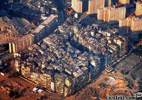 Kowloon-Walled-City - پرتراکم ترین شهرک جهان