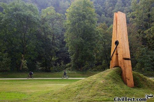 گیره لباس در پارک شوفونتن بلژیک