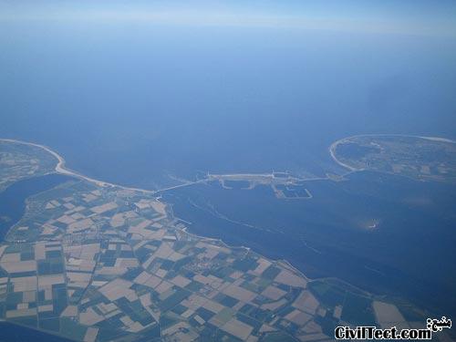 تصویر هوایی از Oosterschelde