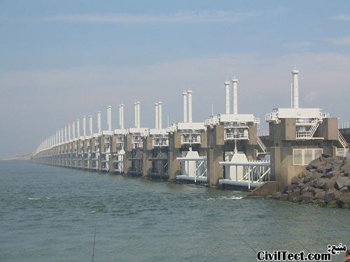 Oosterscheldekering - دروازه های آبی هلند