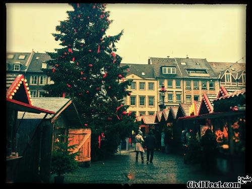 بازار کریستمس دوسلدورف آلمان