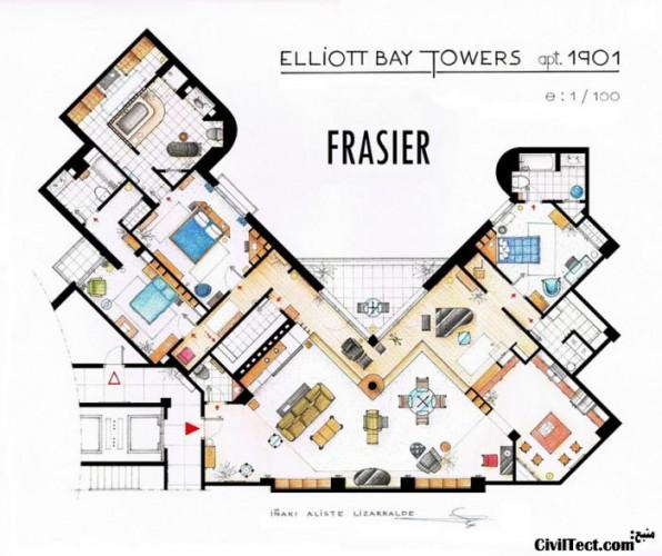 پلان خانه Fraiser