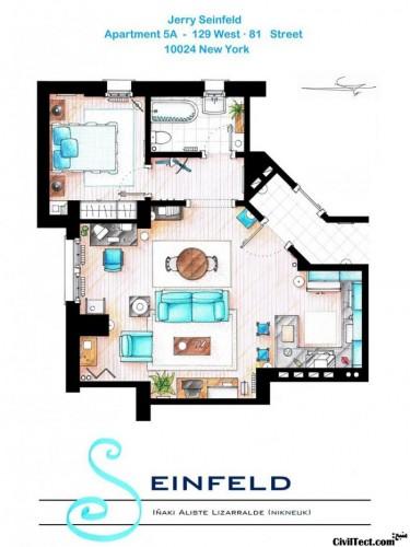 پلان خانه Seinfield