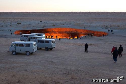 دروازه ی جهنم – حفره ای که بیش از ۴۰ سال است میسوزد!
