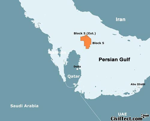 چاه میدان نفتی الشاهین در قطر