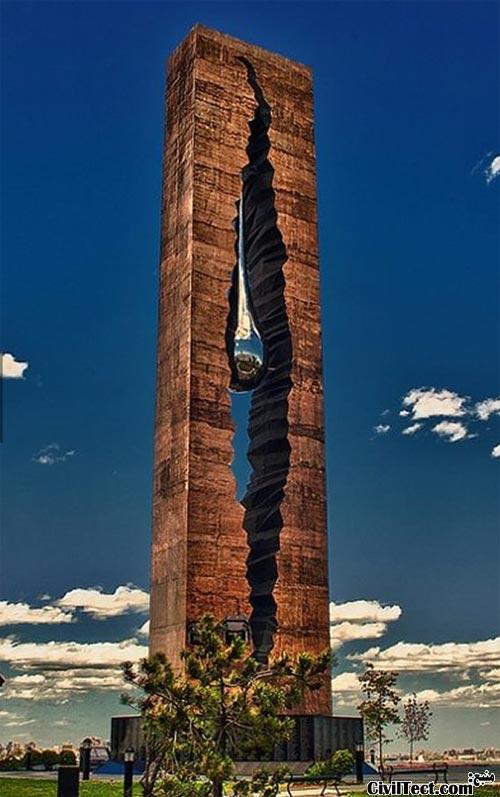 teardrop - مجسمه قطره اشک