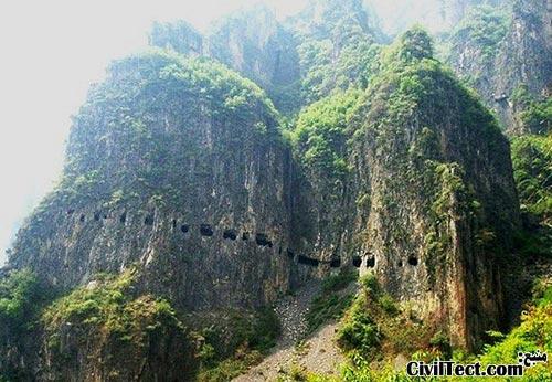 جاده تونل Guoliang در چین