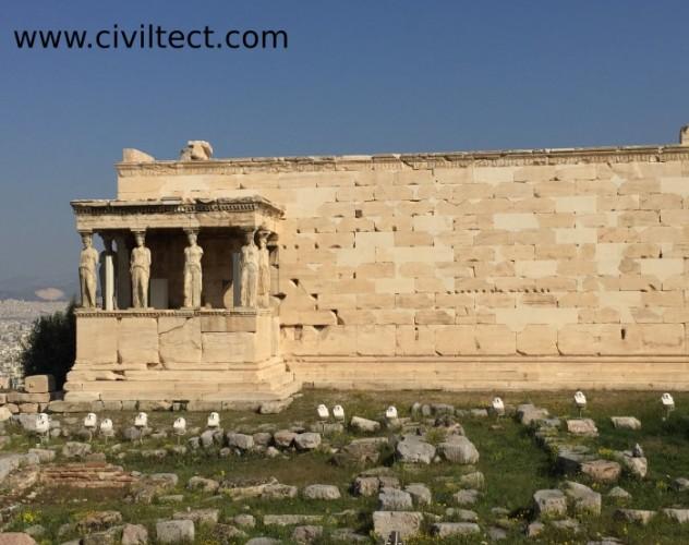 معبد ارخثیون در آکروپولیس آتن